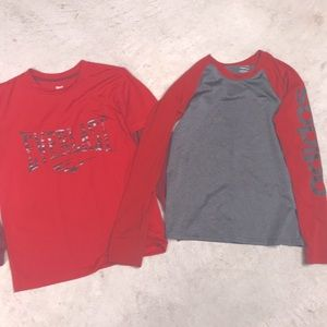 Two med boy tops long sleeve